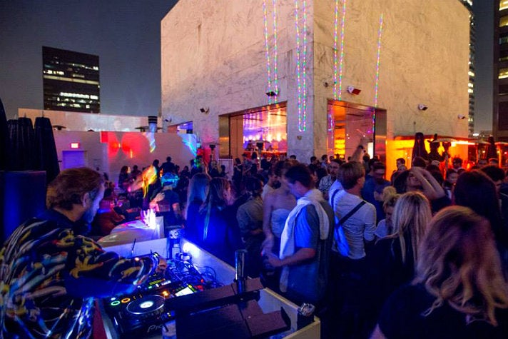 DJ on the rooftop at The Standard Downtown L.A.